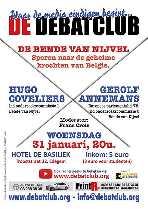Debat: De bende van Nijvel. Sporen naar de geheime krochten van België